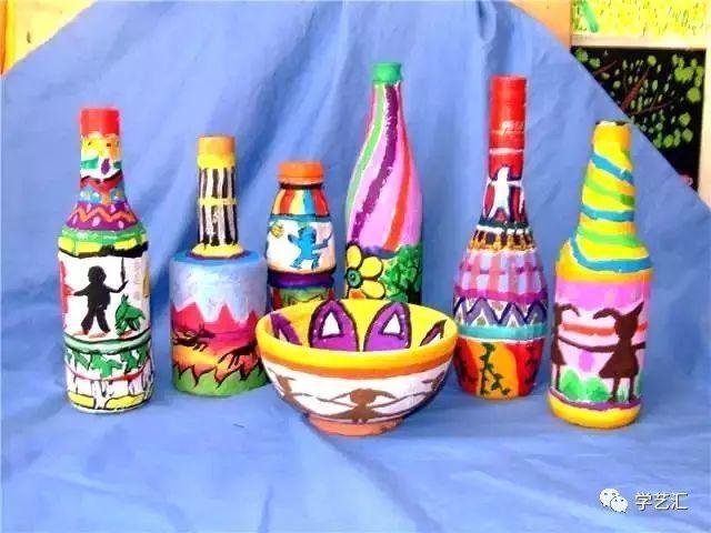 教育 正文  小贴士:做瓶子绘画有专门的玻璃颜料,也可以用丙烯颜料哦图片