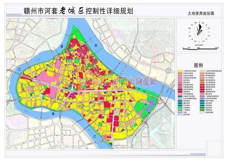 《赣州市河套老城区控制性详细规划》已正式批准实施!