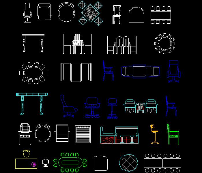 超全的cad图块图库分享,设计工作者必备