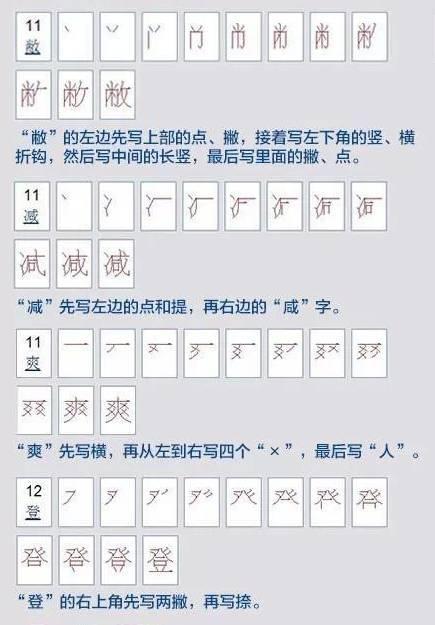 这30个汉字的笔顺太容易写错了 你能够写得对吗