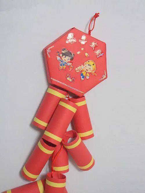 手工环创鞭炮制作步骤又美又简单的新年装饰