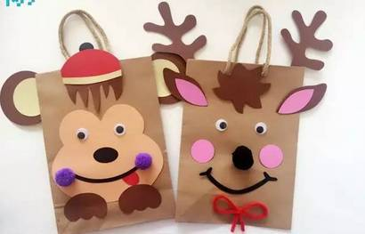 今天让我们一起来制作一个漂亮可爱的动物纸袋吧!很简单哦!