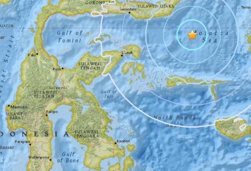 印尼马鲁古南部海域5.5级地震 震源深度51.2公里