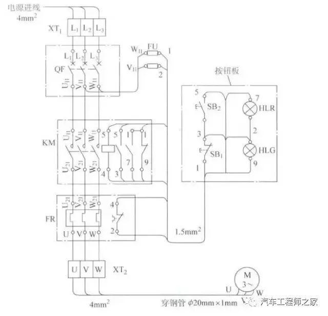 应通过接线端子板连接,电器互联关系以线束表示,走向相同的相邻导线可