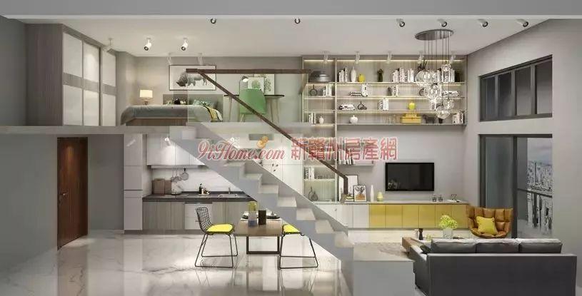 2米层高 loft公寓 建筑面积约-68㎡百变空间图片