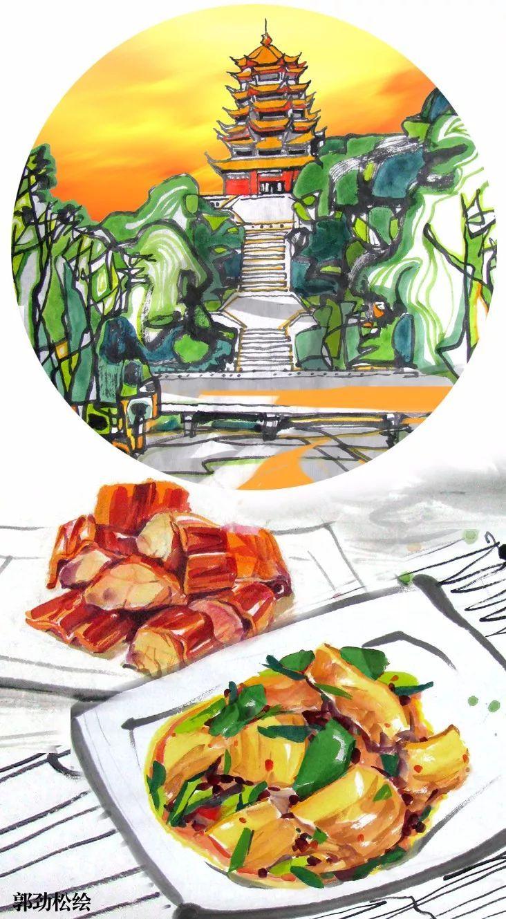 春节回老家吃川菜 手绘四川美食,看看你的家乡菜是哪一道