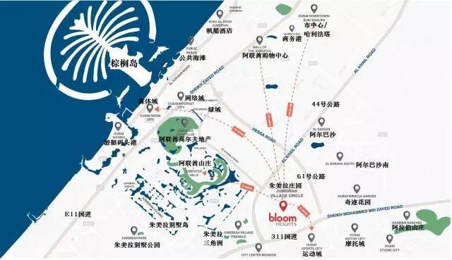 迪拜景点地图中文版