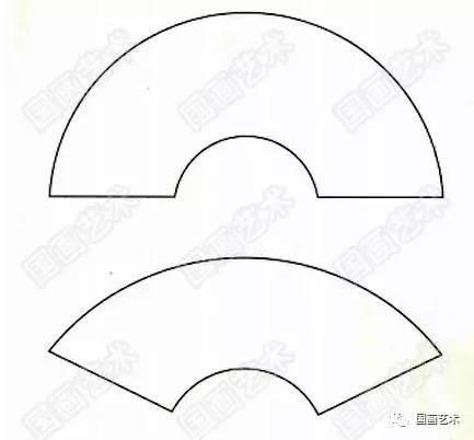 折扇的幾種形式 《春柳雙燕》分解畫法示范 燕子畫法 步驟一:先勾出圖片