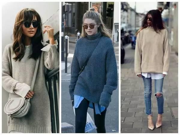 要驾驭超高领的毛衣,长发的女孩可以扎起包包头或是把头发尽量塞在图片