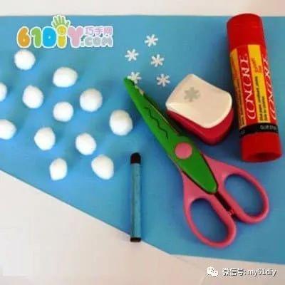 幼儿手工制作冬天的雪景,快给小宝宝看看吧!