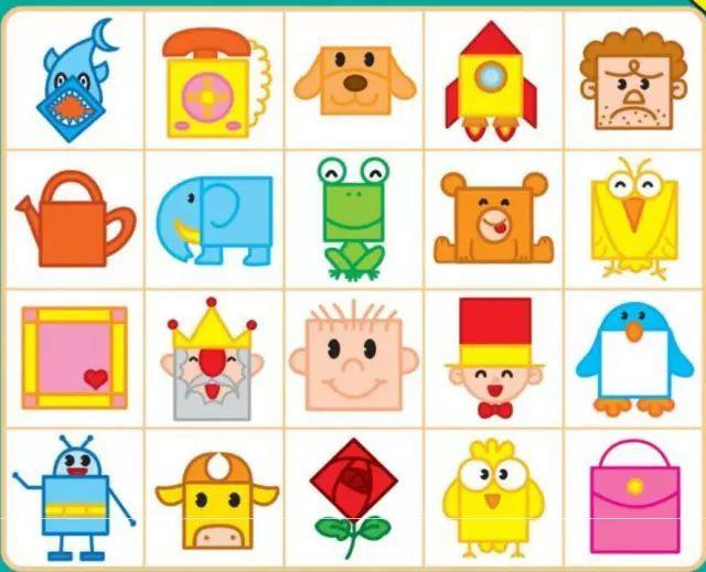 100幅创意正方形简笔画大全,给孩子全新的图形认知概念!图片