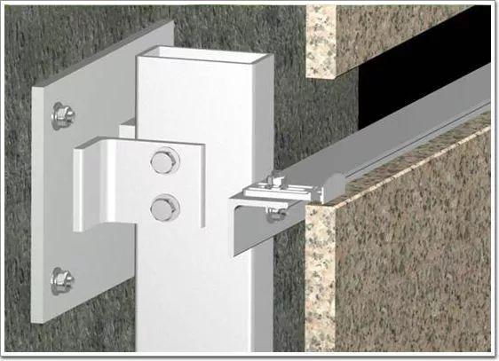 干挂石材钢骨架_2018版:石材幕墙干挂做法(图文详解)