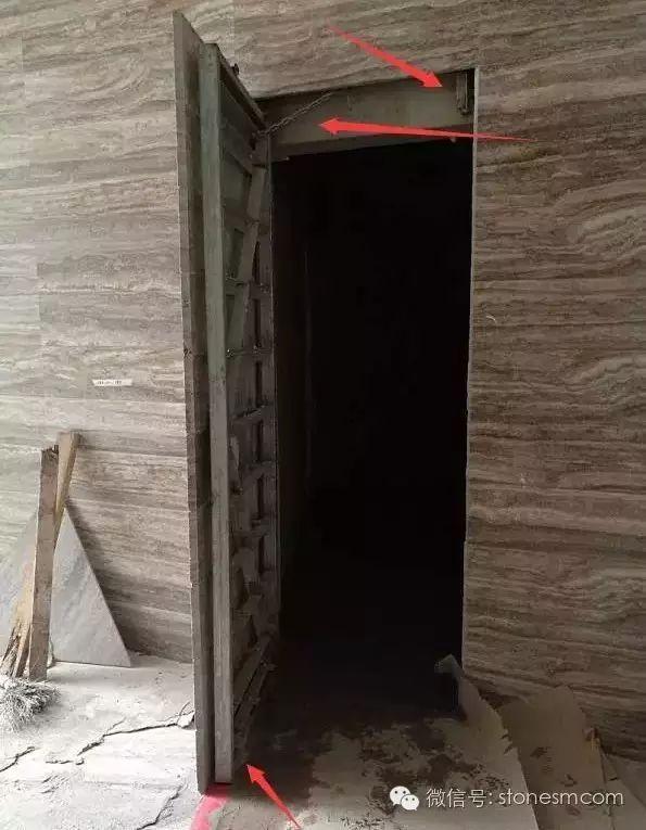 石材暗门做法,开眼界了!_褐色石材