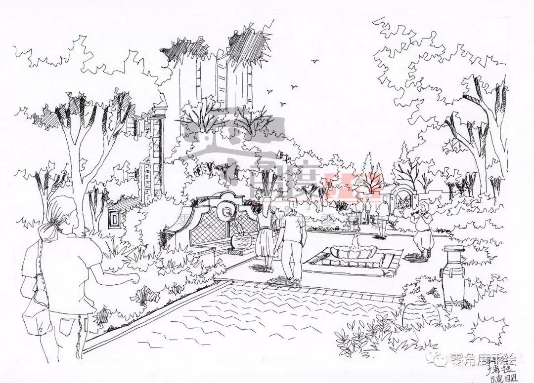 优秀手绘作品--景观园林篇