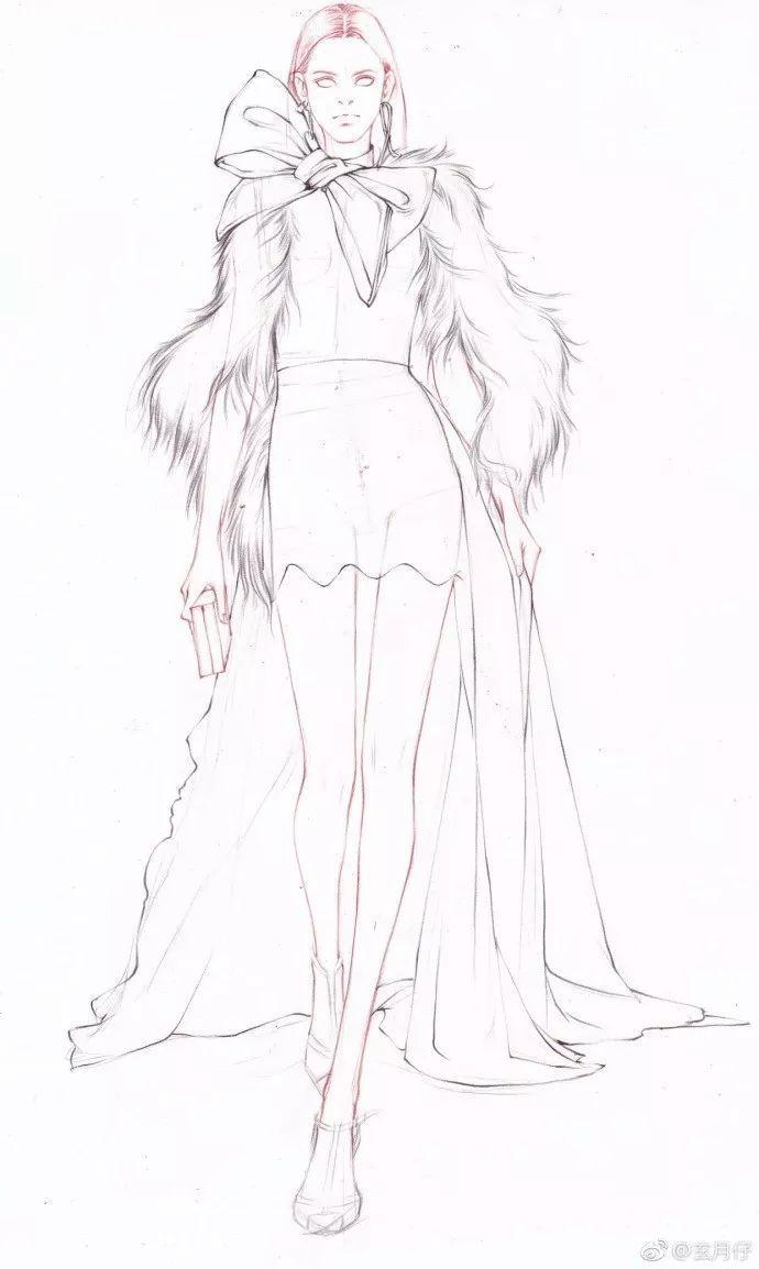 彩铅达人绘 手绘服装设计