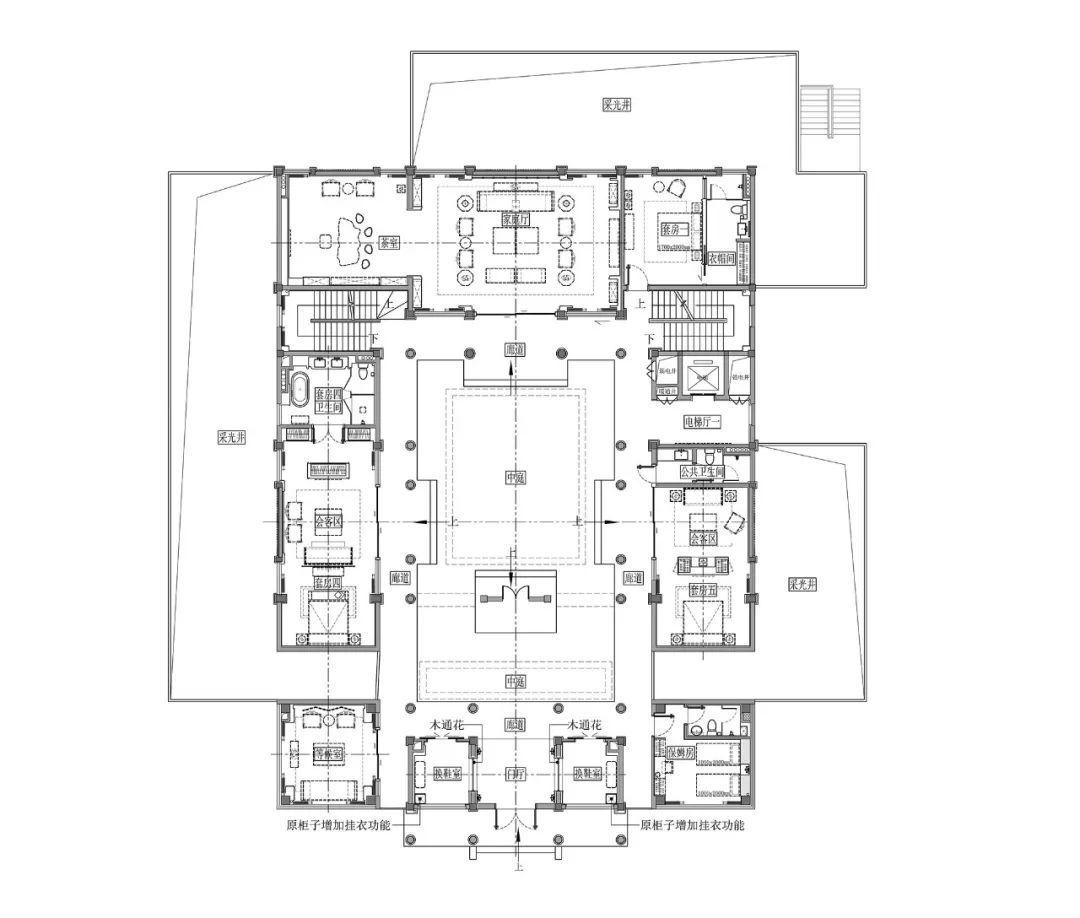 商业合院 平面图