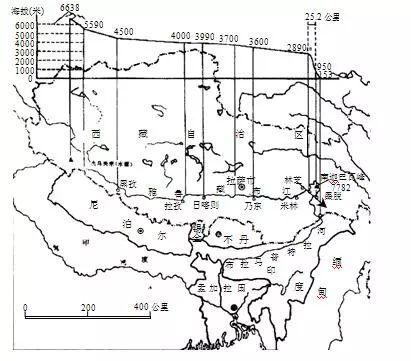 雅鲁藏布江大峡谷形势图