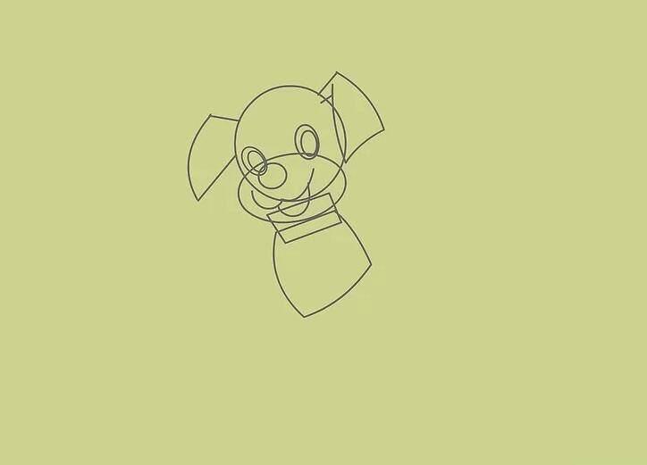 养狗要学会画狗,教你5分钟简笔画出卡通狗