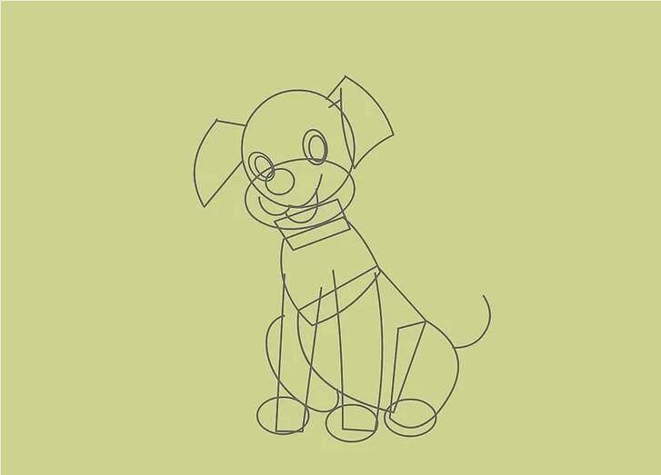 宠物简笔画图片可爱