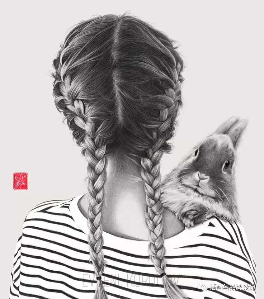 手绘丨 大神超强铅笔妹子肖像,一样是用铅笔画,为啥你