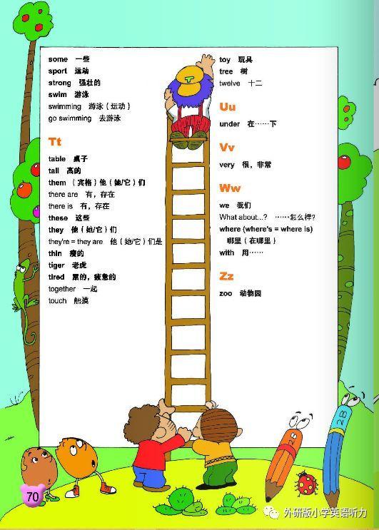 外研版小学英语一年级起点一年级下册 复习 阅读 单词模块