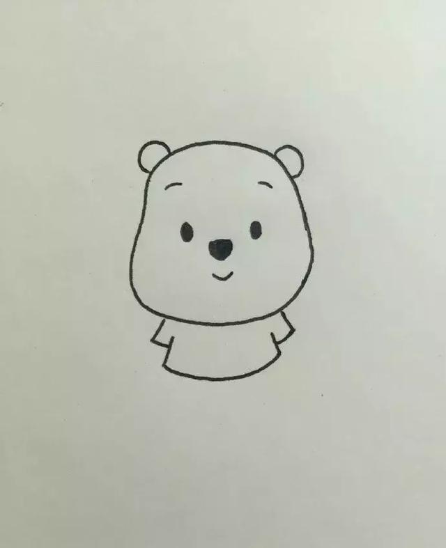 小熊维尼卡通人物简笔画图片大全