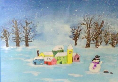 儿童画美丽的冬天 六一儿童网图片