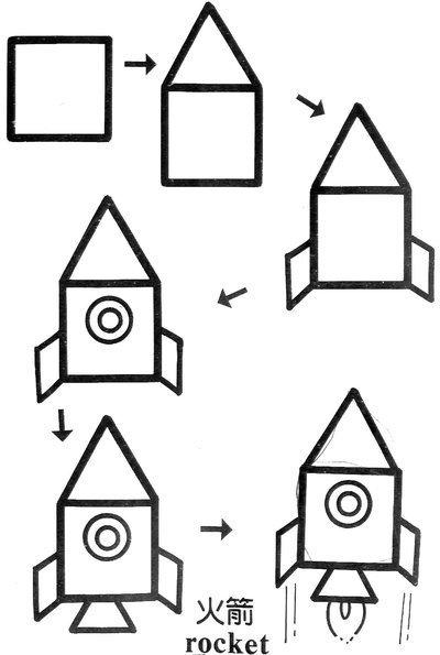 创意正方形简笔画大全,给孩子全新的图形认知概念!