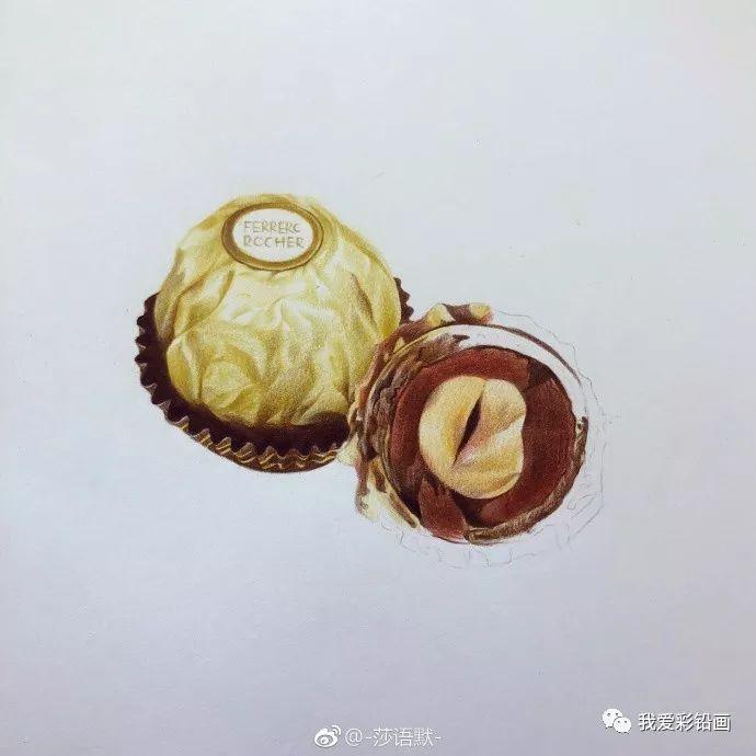 彩铅手绘--费列罗巧克力