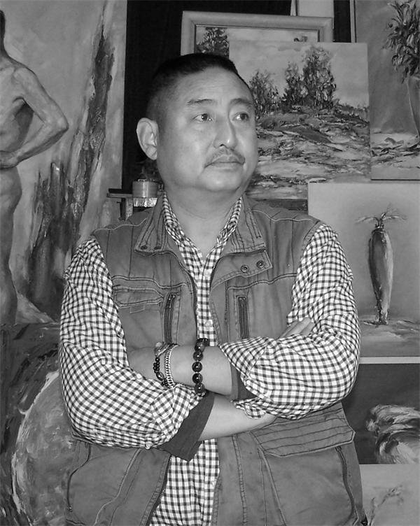 画家刘路喜 倾情创作生命华丽乐章