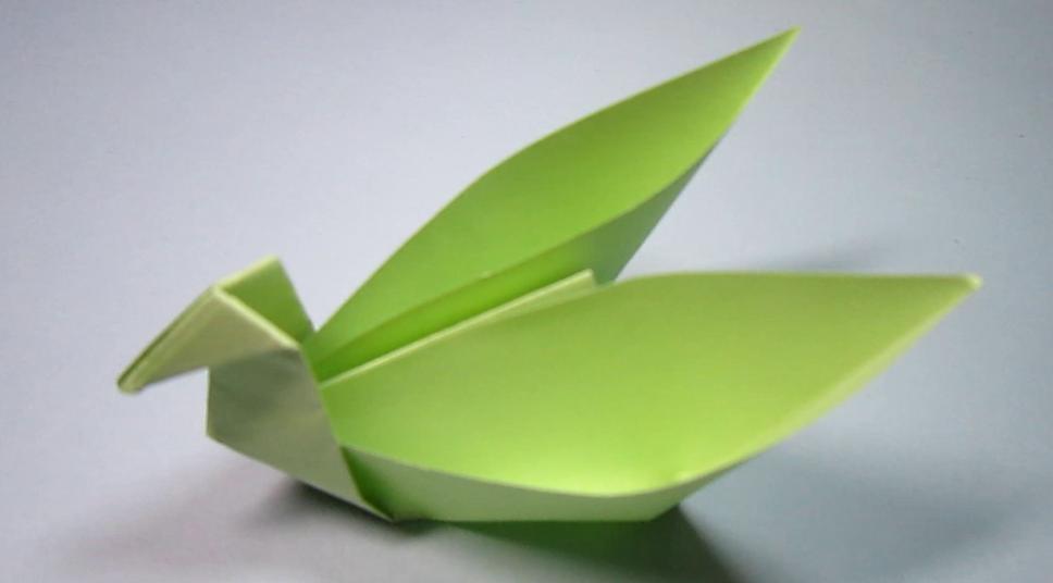 2分钟学会折纸天鹅盒子 儿童手工折纸简单的收纳盒