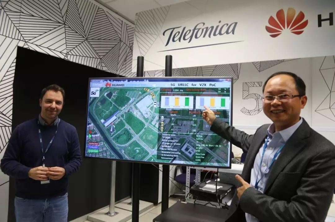 西班牙电信携手华为完成世界首个5G车联网uRLLC辅助驾驶验证