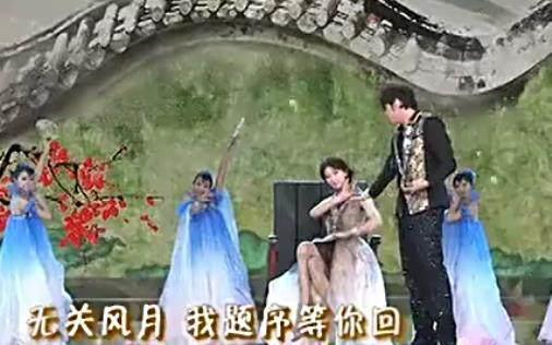 第四次是2011年和林志玲搭档表演魔术《兰亭序》.图片