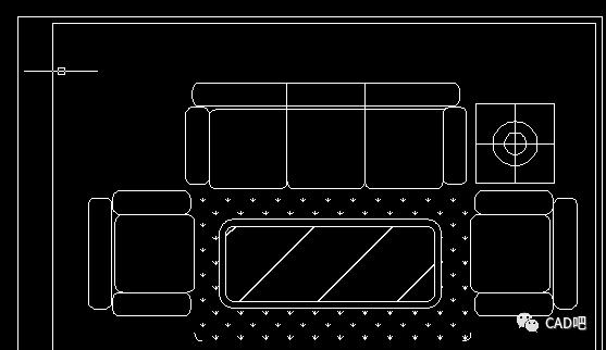 CAD沙发平面图怎么画