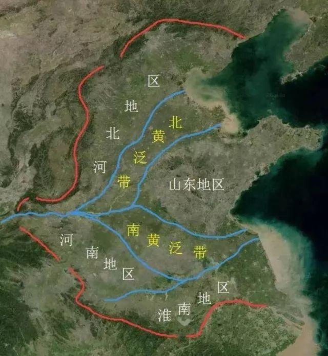 想强调的是:两条黄泛带在黄泛期间,是无法出现大规模城市发展的。
