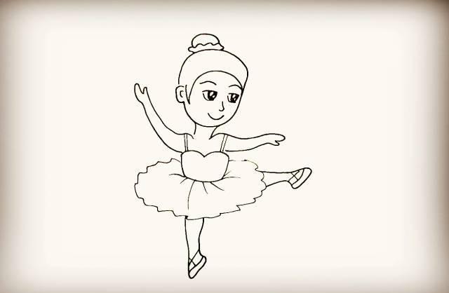 舞者图片简笔画
