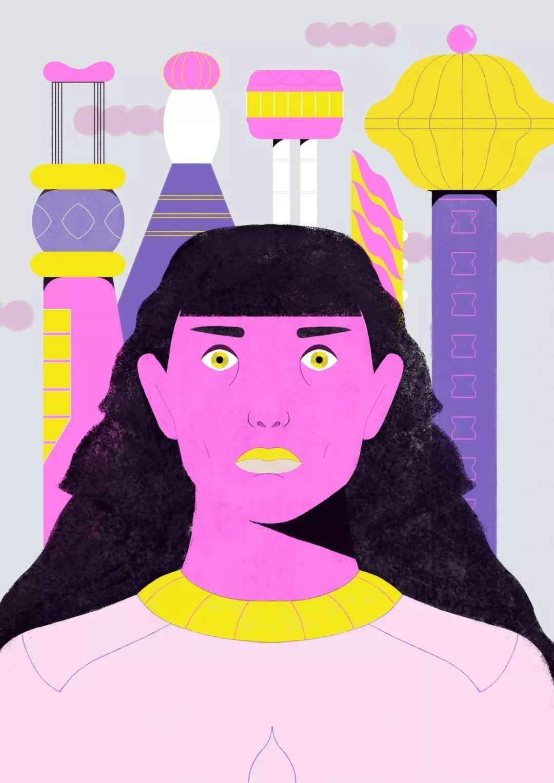 法国插画师Lili des Bellons充满迷幻色彩的插画作品赏