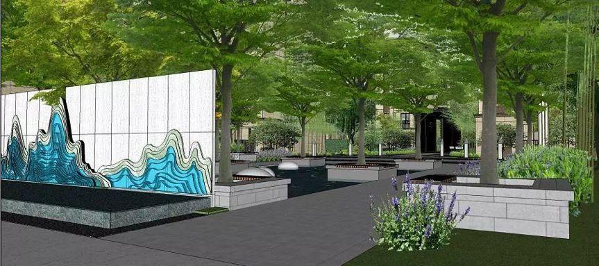 问题的树阵广场亦是薄薄的机械休闲广场,星星点点的趣味搭配浅水的地灯v问题存在的阵列图片