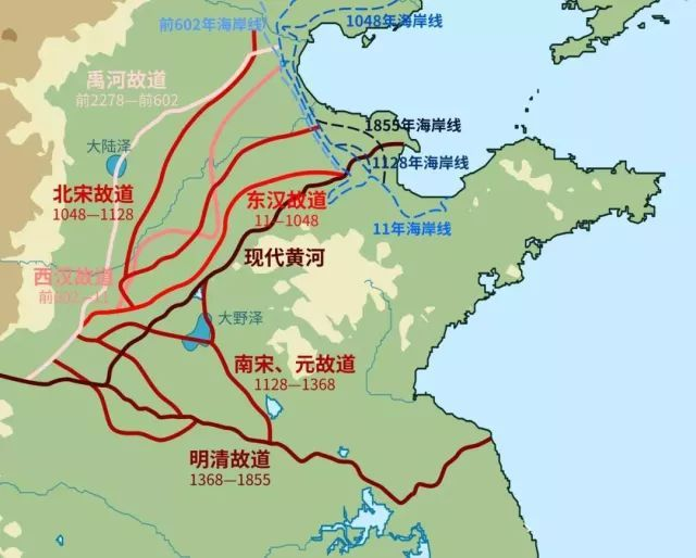 这张图的左上角有个大陆泽,这就是一亿年前海水能灌到太行山脚下的证据。大禹导河,北过洚水,至于大陆。河就是黄河,大陆就是大陆泽。