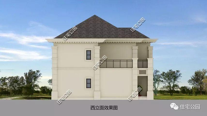 恢弘典雅,12x16米意式别墅,农村建房气质之选(全图 预算 视频展示)