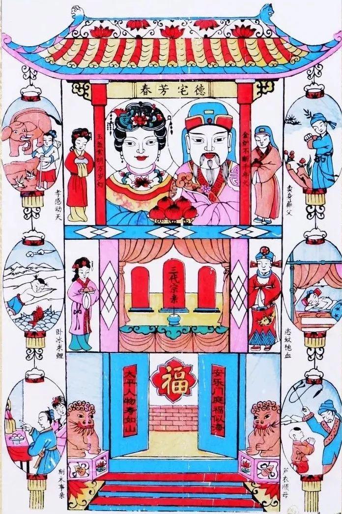 从古至今, 中国人用年画寄托着情感, 传递最朴素的盼望: 母慈子孝,一图片