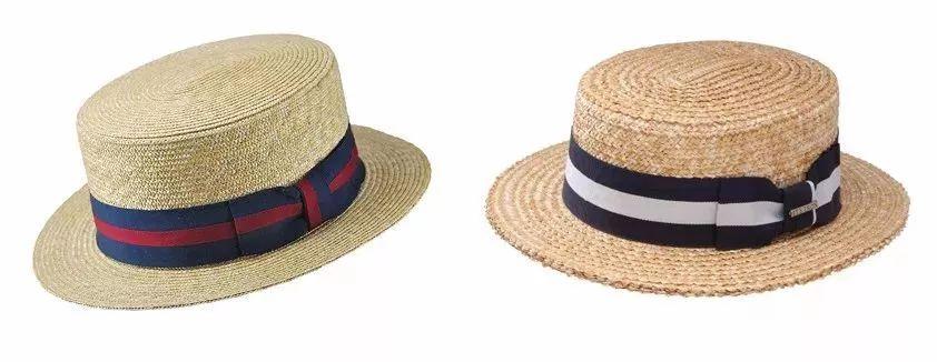 用稻草编织的,与大家认识的巴拿马帽不一样,巴拿马是用树叶纤维制成的