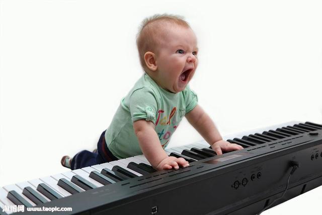 宝宝 钢琴/有学术研究曾就六个月大的宝宝做过调查,宝宝听到不同情感的...