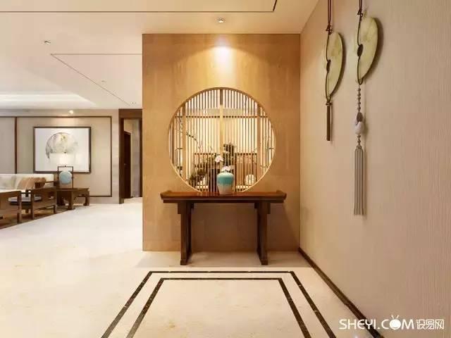 新中式玄关 ,第一眼就让客人惊艳到心图片