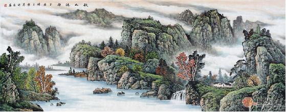 文化 正文  赵洪霞云海山水画系列画面重气势,俱在大处着落,让主题图片