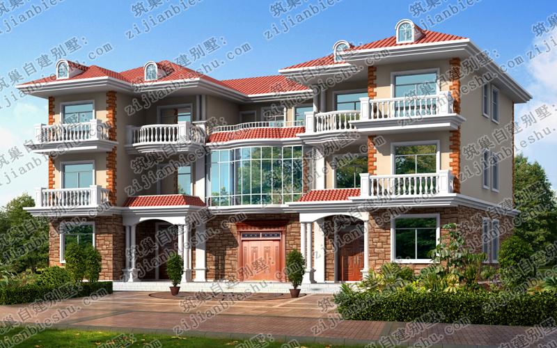 本套三层双拼别墅户型设计精美独特,外观设计相当豪华,各结构很有立体
