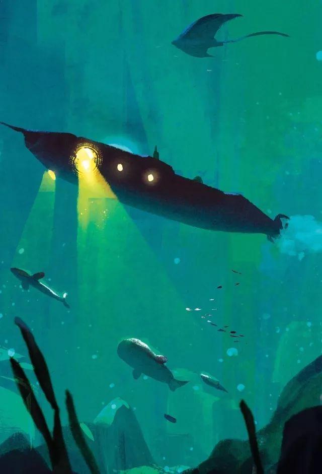 《海底兩萬里》. 他們依靠海洋中的各種動植物來生活.圖片