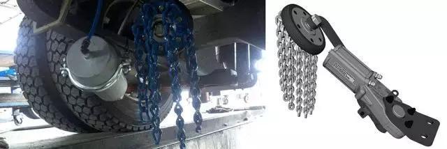 气缸以及一个橡胶链轮,并通过气动控制阀连接到驾驶室内.图片