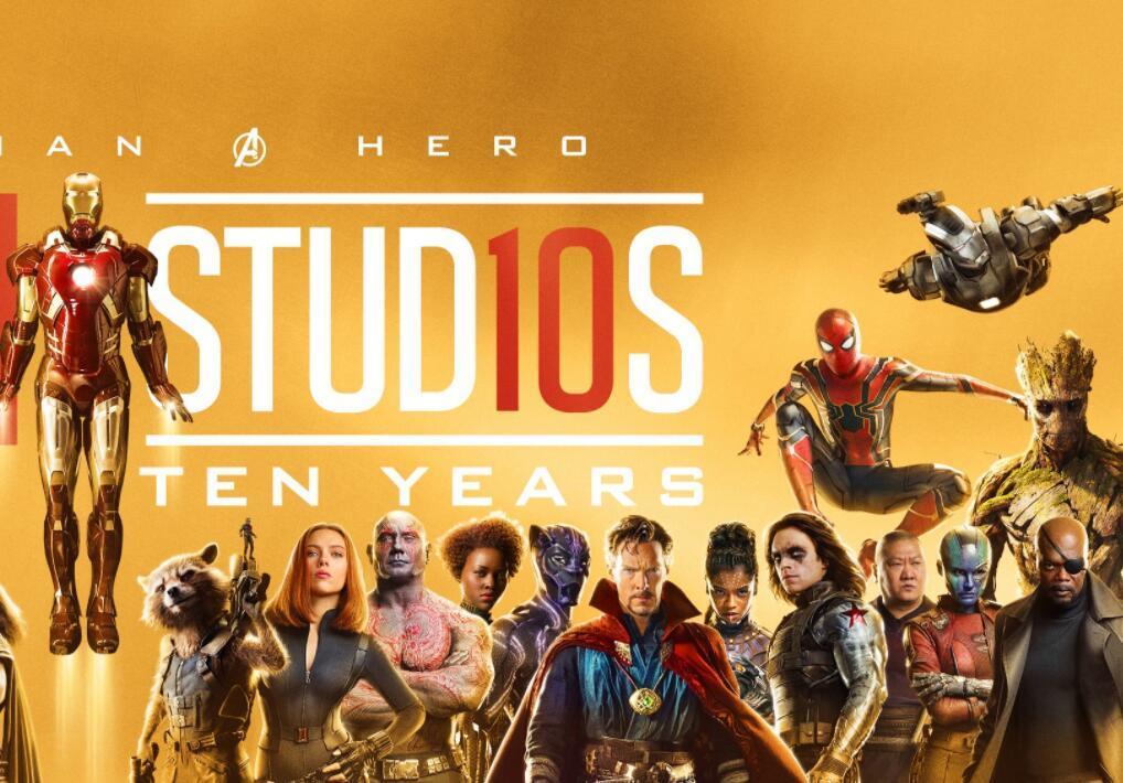 电影�:(_1/ 12 搜狐娱乐讯 漫威电影宇宙迎来10周年,电影中的超级英雄们同框