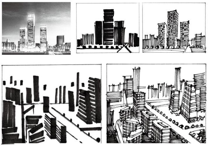学会这些,就能画好建筑手绘